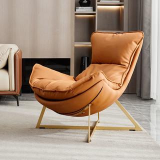 月影设计师单人沙发轻奢单椅极简客厅阳台休闲椅网红椅懒人沙发椅
