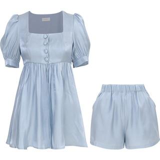 since then《月光下的海面》酷盐系女士套装时尚洋气短裤两件套夏