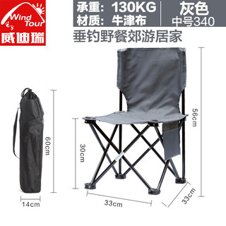 Wind Tour 威迪瑞 户外装备可折叠椅躺椅钢管便携式休闲沙滩椅钓鱼椅子户外椅子凳子1.000千克