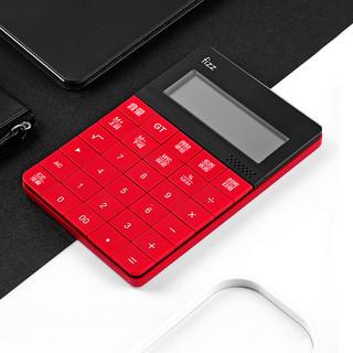 fizz 飞兹 真人语音型桌面计算器 12位大屏显示计算机 学习教学办公文具用品 红色 FZ66808