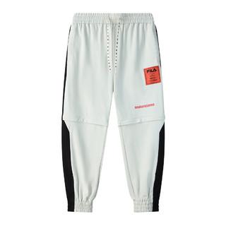 FILA 斐乐 男装宽松运动裤休闲裤可拆卸短裤男透气舒适男式针织长裤