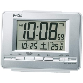 Prime会员 : SEIKO 精工 PYXIS NR535W 液晶电波闹钟
