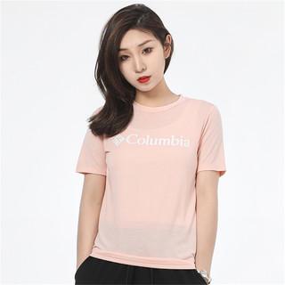 Columbia 哥伦比亚 女装女士短袖户外运动休闲透气舒适圆领简约时尚半袖T恤