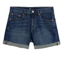 Gap 盖璞 女士牛仔短裤 717681 靛蓝色 24