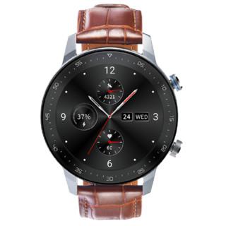 ZTE 中兴 WATCH GT 智能手表 1.39英寸 铂钻银 硅胶表带 棕色(GPS、血氧、心率、运动、防水)