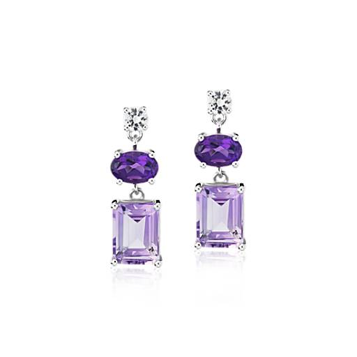 Blue Nile 女士紫水晶925银耳环