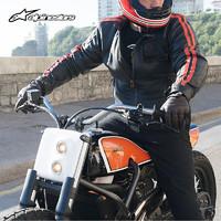 Alpinestars 意大利a星alpinestars皮衣秋冬保暖摩托车骑行服机车夹克复古皮衣CHARLIE 黑红色 L