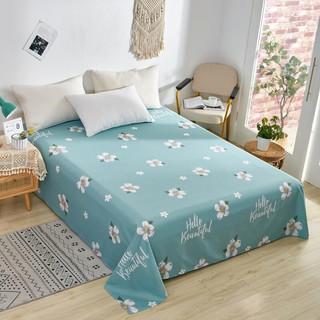 雲上舒 床单纯棉 斜纹印花床单单件被单 花朵 160*230cm