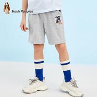 京东PLUS会员、PLUS会员:Hush Puppies 暇步士 夏季男童休闲短裤 花灰 150cm