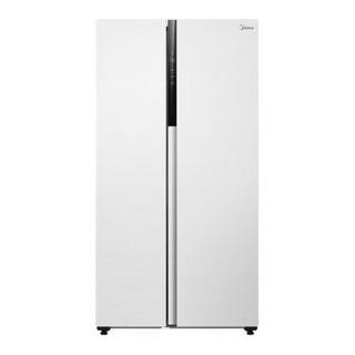 Midea 美的 543升对开门双开门冰箱19分钟急速净味风冷无霜一级双变频智能家电(白色)BCD-543WKPZM(E)
