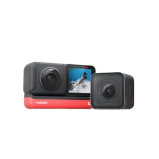 Insta360 影石 ONE R 全景版防抖运动相机 多镜头+32GBMicro SD卡+自拍杆+运动配件套装+原装电池 超级运动礼盒