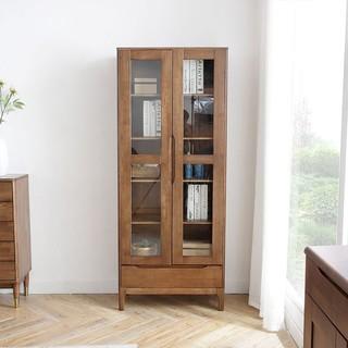 SENAZUOJU 塞纳左居 北欧全实木玻璃书柜