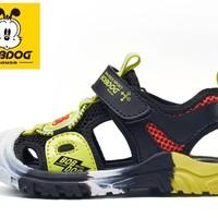 BoBDoG 巴布豆 儿童凉鞋BJ21664 黑荧光绿 22/适合脚长约14.0
