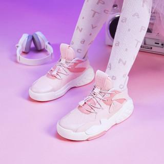 ANTA 安踏 霸道系列 中大童女童运动休闲鞋夏季网面透气跑步鞋安踏儿童鞋