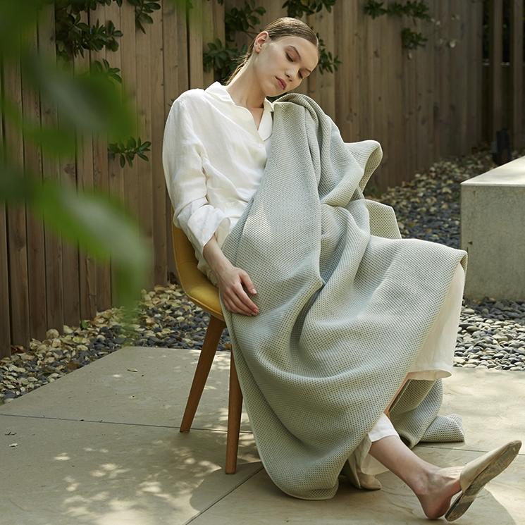 LASUNTIN LaSuntin夏凉毛巾被空调华夫格毯子夏季薄款全棉毛毯盖毯双人北欧
