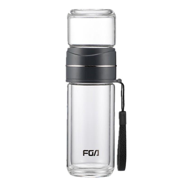 FUGUANG 富光 茶水分离 双层玻璃杯 320ml