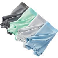 Nan ji ren 南极人 男士冰丝平角内裤套装 4条装(深灰+薄荷绿+浅灰+天蓝) XL