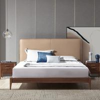 YANXUAN 网易严选 现代实木卧室双人床+2床头柜组合
