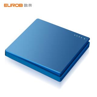 EUROB 欧奔 国际电工大板蓝色86型五孔二三插带双控单开墙壁开关插座面板
