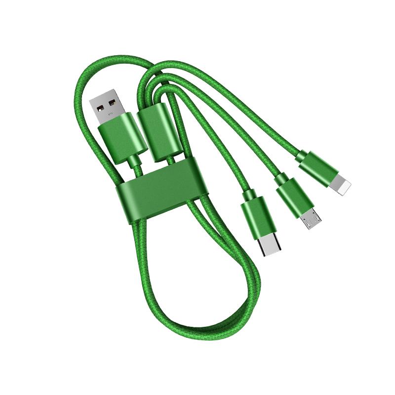 苏宁宜品 数据线三合一充电线一拖三type-c通用USB连接线转接线苹果OPPO安卓vivo华为iPhone