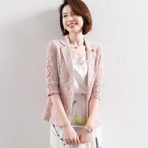 FORTEI 富铤 五分袖薄款小西服外套女士款小西装外套女夏季