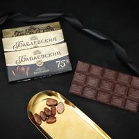 芭味富俄罗斯进口扁桃仁多口味巧克力爱莲巧旗下100g大块装 75%可可苦味