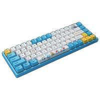 Akko 艾酷 3068 V2 哆啦A梦 68键 双模机械键盘 蓝色 AKKO橙轴 RGB