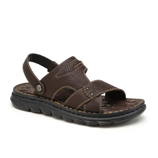 CAMEL 骆驼 男鞋 夏季凉鞋男两穿拖鞋商务沙滩百搭舒适休闲鞋 A022287022,棕色 41