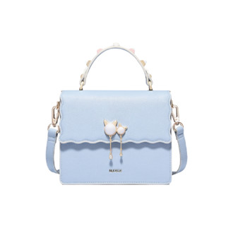 NUCELLE 纽芝兰 女士单肩手提包 1171149 气质白礼盒套装 梦幻蓝 小号
