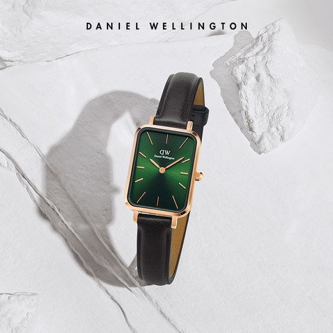 Daniel Wellington 丹尼尔惠灵顿 DW小方表手表女 女款复古皮表带小绿表女表