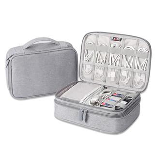 BUBM 必优美 数据线收纳包电源盒子多功能充电线旅行便携数码配件整理袋 双层DPSS-MYB
