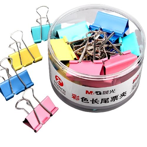M&G 晨光 长尾夹+中性笔 12只+4支