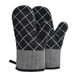 展艺 隔热手套 黑白格 耐高温防烫加厚煲汤烤箱微波炉烘焙手套两只装