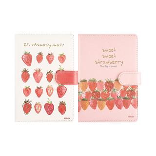 M&G 晨光 文具36K/112张学生记事本 笔记本子 皮面手账本 草莓限定系列PU磁扣日记本 单本装颜色随机MPY1K27E