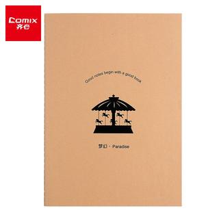 Comix 齐心 A5/60张 12本装牛皮纸缝线软抄本文具笔记本子记事本日记本作业本 CFA560-5