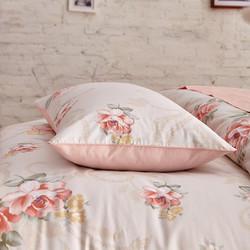 柳庭 家纺 全棉60支贡缎枕套 纯棉枕头套一对装 春意 48x74cm