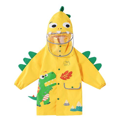 lemonkid 柠檬宝宝 儿童卡通雨衣【双帽 书包位】