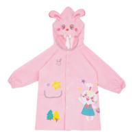 lemonkid 柠檬宝宝 LK2201004 儿童雨衣 粉色兔子 L