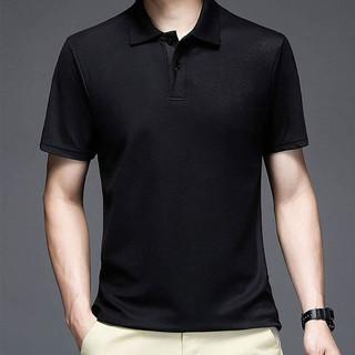 KEFUSEN 科弗森 2021夏季新款免烫POLO衫  黑色 XL