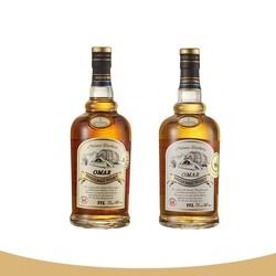 OMAR Cask傲玛 波本花香单一麦芽威士忌700ml+雪莉果干单一麦芽威士忌700ml