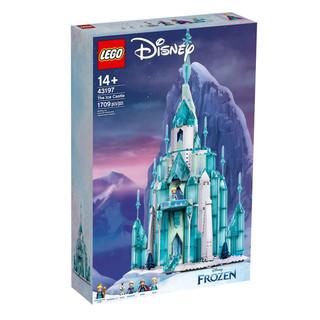 LEGO 乐高 积木迪士尼玩具43197艾莎魔法冰雪城堡