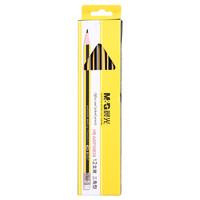 M&G 晨光 AWP30939 经典黄黑抽条三角木杆铅笔 带橡皮头  HB 12支/盒