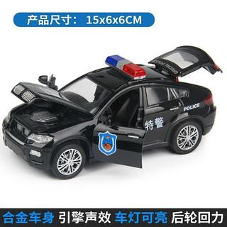 凌速 合金警车路泽仿真模型1:32警车   宝马X6特警