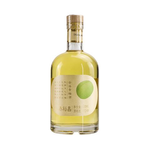 泰裕昌 网红青梅酒梅子酒发酵酒梅酒微醺女士低度酒果酒单瓶500ml装