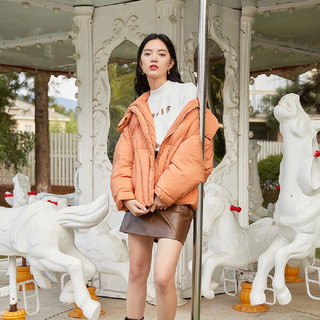 eifini 伊芙丽 [6折到手价:550]伊芙丽短款羽绒服女2020冬季新款韩版宽松面包服加厚保暖连帽外套