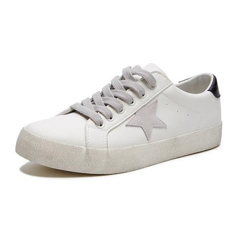 hotwind 热风 H014M0731501 男士拼色复古小白鞋