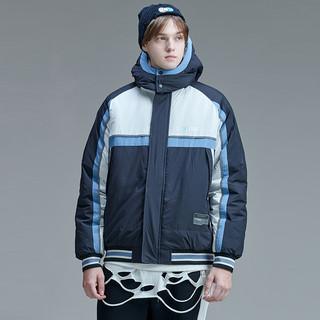 GUUKA 古由卡 冬季工装棉服男潮牌 运动撞色拼接加厚棉衣外套宽松