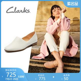 Clarks 其乐 clarks其乐女鞋春夏复古低跟乐福鞋舒适休闲一脚蹬浅口精致单鞋女
