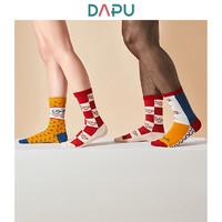 DAPU 大朴 男女款中帮袜套装 3双装