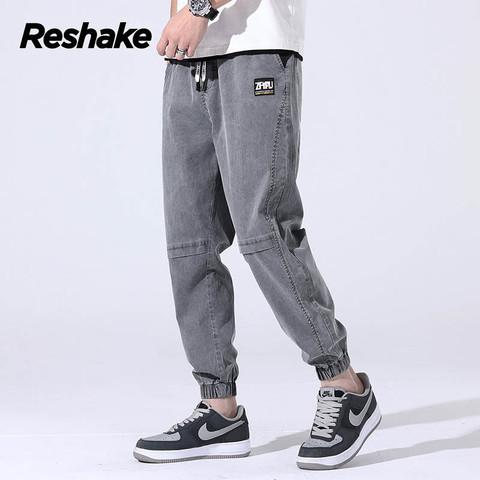 Reshake2021哈伦牛仔裤男夏季宽松束脚百搭潮流休闲裤男薄款裤子